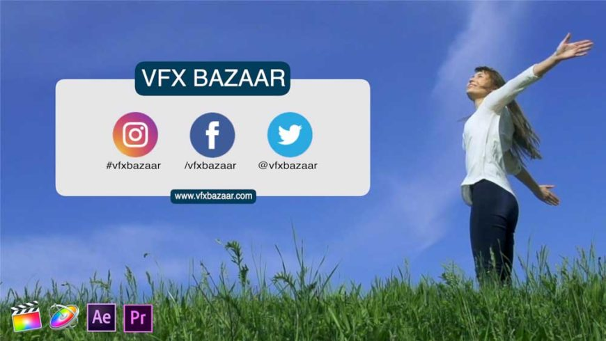Social Media Lower Third V.2 VFX Bazaar